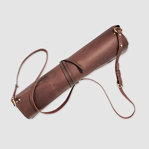 Stylish Rustic vintage leather chef roll knife case toll case painters Roll