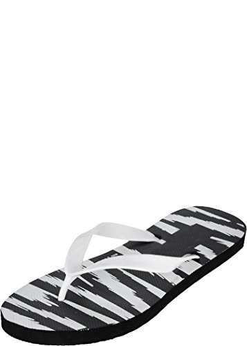 Zovi Men's Black and White Striper Flip-flops (10214806601) -10 UK (multicolor)