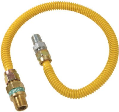 Brass Craft CSSD44E-18 P 18-Inch 3/8-Inch I.D. 1/2-Inch O.D. Safety Plus Advantage Coated Stainless-Steel Gas Connector