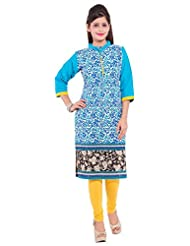 R D Traditional Women's Cotton Straight Kurti