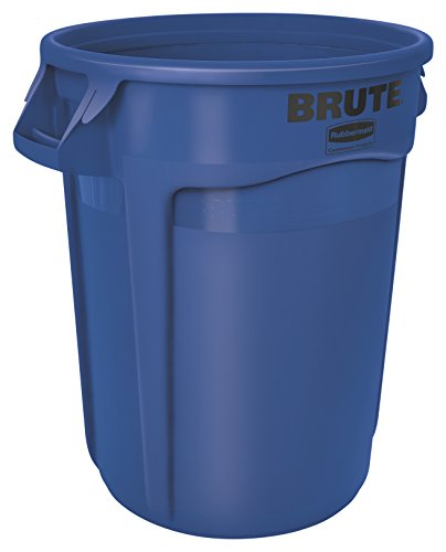 Rubbermaid Commercial 1779699 BRUTE Heavy-Duty Round Waste/Utility Container, 10-gallon, Blue (Commercial Garbage Container compare prices)