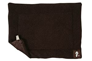 Yap Roventa Cage and Carrier Mat, Choc Faux Lambswool, 18 x 24 inch