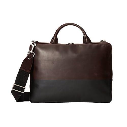 (ジャック・スペード) Jack Spade ラップトップバッグ メンズ Jack Spade Dipped Leather Slim Brief Chocolate/Black