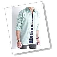 (オークランド) Oakland 7分袖 綿麻 リネン ストレッチ シャツ 柔らかい ソフト 七分袖 デザイン リゾート 海 夏 カジュアル 品質 メンズ
