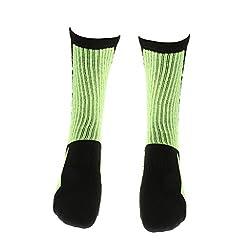 1 Pair Men Women's Basketball Football Sports Lacrosse Crew Socks - 4 Colors - green