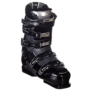 Salomon Mission 4 Ski Boots Black/Gun Metal Translucent Sz 13 (30.5)