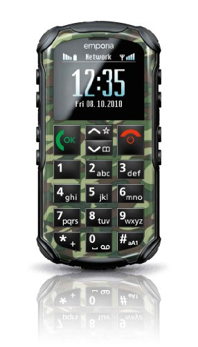 Emporia Solid Outdoorhandy (4,6 cm (1,8 Zoll), OLED Farbdisplay, Bluetooth) grün camouflage