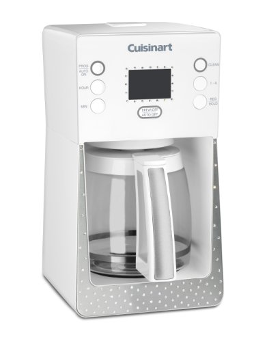 Cuisinart Crystal Scc-1000W Limited Edition Perfec Temp 14-Cup Programmable Coffeemaker Made With Swarovski Elements, White