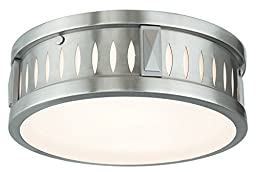 Livex Lighting 65507-91 Vista 2 Light Ceiling Mount, Brushed Nickel