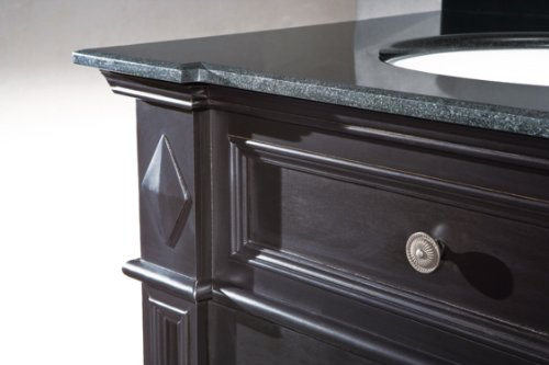 Ove essex 31 bathroom 31 inch vanity ensemble with black for 1 inch granite countertops
