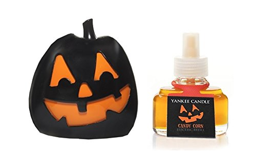 Yankee Candle Light-Up Jack-O'-Lantern Scent-Plug Diffuser Base With Candy Corn Home Fragrance Electric Refill