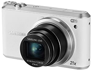 "Samsung WB350F 16.3MP CMOS Smart WiFi & NFC Digital Camera with 21x Optical Zoom and 3.0"" Touch Screen LCD and 1080p HD Video (White)"