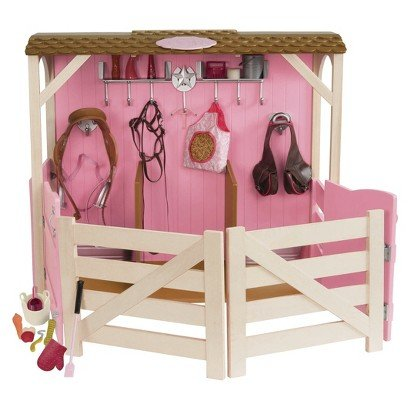 Doll Sized Horse Stable Barn Fits American Girl, Our Generation 18 Inch Dolls