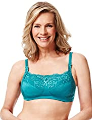 Post Surgery Jasmine Embroidered Lace Padded A-DD Bra with Modal