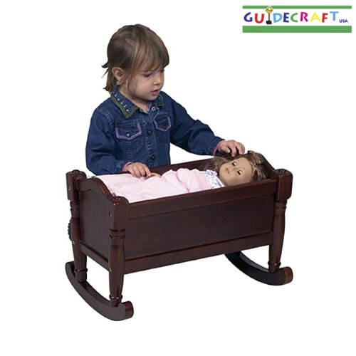 Guidecraft Doll Cradle Design: Espresso