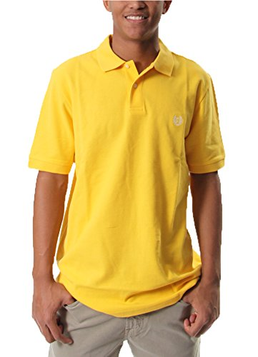 Short Sleeve Pique Polo in Yellowfin By Chaps (M)
