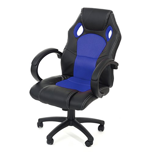 MY SIT RACING CHAIR SILVERBLUE SEDIA DA UFFICIO POLTRONA PRESIDENZA