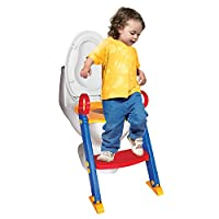 Chummie Joy 6 In 1 Portable Potty Training Ladder Step Up Seat For Boys And Girls With Anti-Skid Feet, Adjustable Steps, Comfortable Potty Seat And Handrail from Chummie