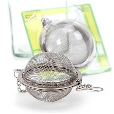 Fortunately Balls Shape Stainless Nice Steel Tea Leaves Strainers Interesting Silver