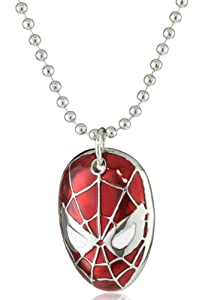Marvel Red Spiderman Mask Necklace