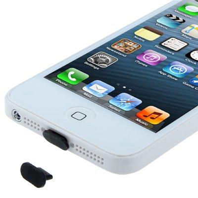 Rocina Staubschutzkappe Stöpsel Schutz Kappe für Dockanschluss für Apple iPhone 5 in schwarz