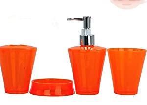 Bathroom accessory sets bright candy colors for Bright coloured bathroom accessories