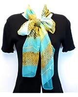 Fashion Animal Print Design-Sheer Silk/Polyester Long Scarf 19x62