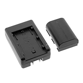 High Capacity LP-E6 Replacement Lithium-Ion Battery With Charger for Canon Digital SLR EOS 5D Mark II Digital Camera