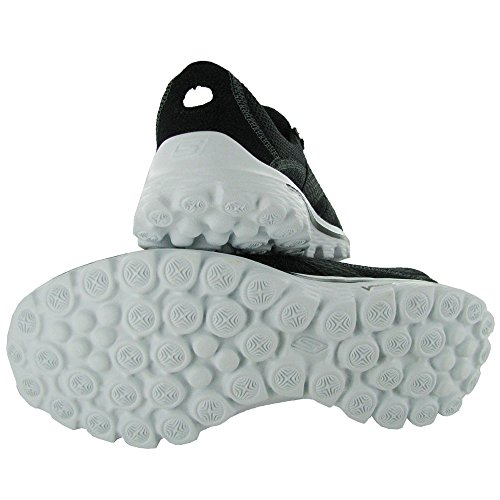 Skechers Performance Women's Go Walk 2 Stance Fashion Sneaker,Black White,6.5 M US