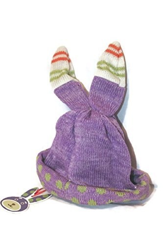 Baby Bunny Hat One Size New Rabbit Purple Boy Girl Unisex Monkeez and Friends Retired