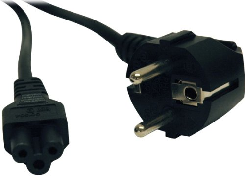 Tripp Lite 2 Prong European Computer Power Cord (C5 To Schuko Cee 7/7) 6-Ft.(P058-006)
