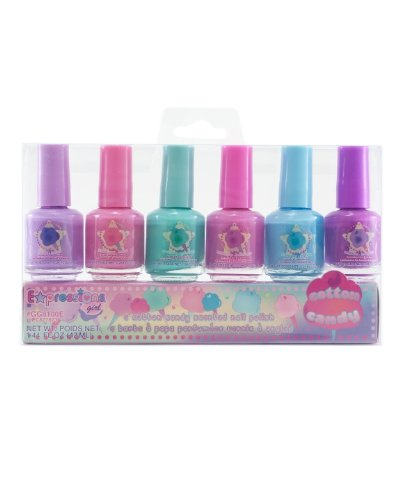 Cotton Candy Nail Polish 77: Expressions Girl 6-piece Fruit Scented Nail Polish Set