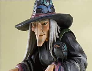 Jim Shore Halloween Old Witch with Cane Statue 23 Inch