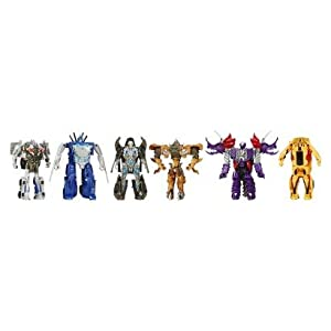 Transformers® Age of Extinction MV4 One Step Magic 6Packs Collection Set- Exclusive- 2 robot-to-dino figures and 4 robot-to-vehicle figures-Plastic- No battery used