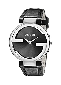 Gucci Women's YA133301 Stainless Steel Watch with Leather Band