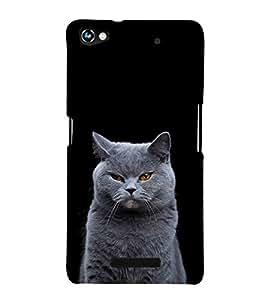 White Cat Design 3D Hard Polycarbonate Designer Back Case Cover for Micromax Canvas Hue 2 A316