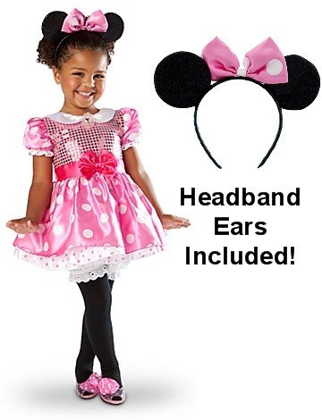 Disney Store Pink Minnie Mouse Costume & Ears
