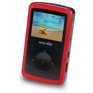 MemoryKick 60GB Mediacenter Portable Multimedia Player - Red