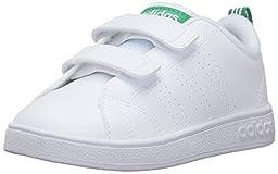 adidas NEO VS Advantage Clean Cmf Inf Sneaker, White/White/Fairway, 3 M US Infant