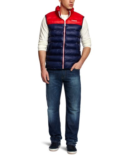 Rampant Colour Blocked Men's Gilet Marine X-Large