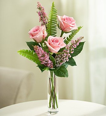 1800Flowers - Love's Embrace Roses - Pink - 3 Stems Pink