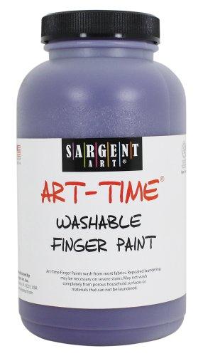 Sargent Art 22-9442 16-Ounce Art Time Washable Finger Paint, Violet - 1