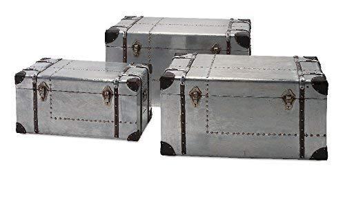 IMAX 74408-3 Brewer Aluminum Trunks, Set of 3