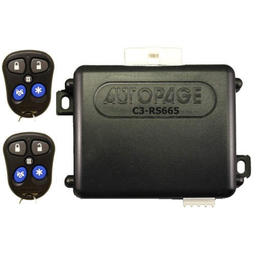 AutoPage Vehicle Security System 3-Channel with Car Alarm and Remote Start - C3-RS665