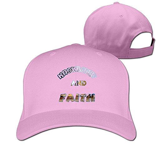 ZULA Funny Unisex-Adult Knowledge And Faith Duke University Travel Cap Hat Pink