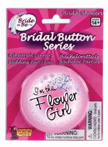 "Forum Novelties 56085 Bride to Be ""I'm the Flower Girl"" Button"