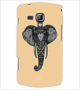 PrintDhaba Elephant Art Work D-4285 Back Case Cover for SAMSUNG GALAXY S DUOS 2 S7582 (Multi-Coloured)