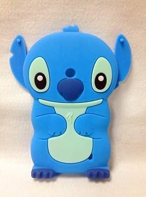 Lumia 635 Case,Lumia 635 Stitch Silicone Case,Tribe-Tiger 3D Cartoon Stitch&Lilo pink Ears Silicon Gel Rubber Case Cover Skin for Microsoft Lumia 635 by Tribe-Tiger