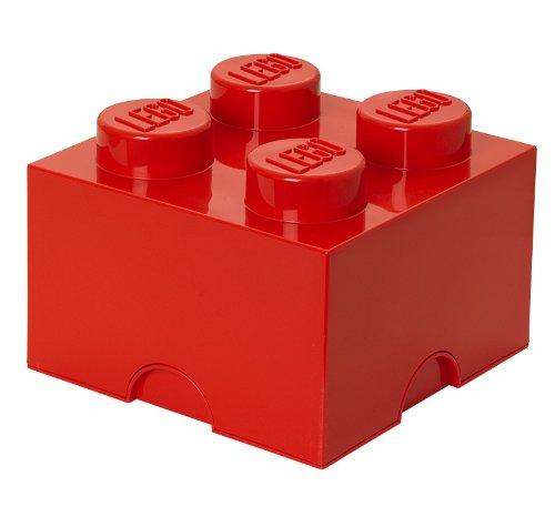 LEGO Lizenzkollektion 40031730 - LEGO Stapelbare Aufbewahrungsbox 4 Noppen Rot