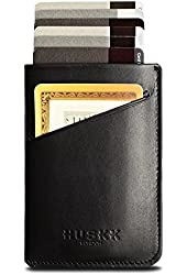 HUSKK Mens Italian Leather Card Sleeve Wallet